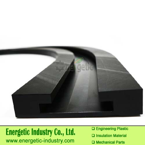 High-quality anti-static UHMWPE  self-lubricating curve sliding rail plastic parts